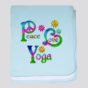 Peace Love Yoga baby blanket