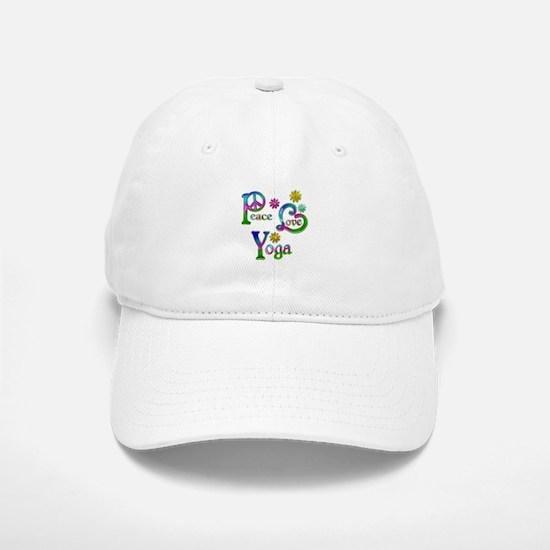 Peace Love Yoga Baseball Baseball Cap