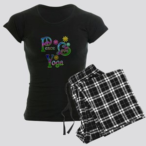 Peace Love Yoga Women's Dark Pajamas