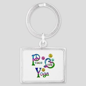 Peace Love Yoga Landscape Keychain