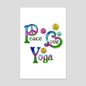 Peace Love Yoga Mini Poster Print