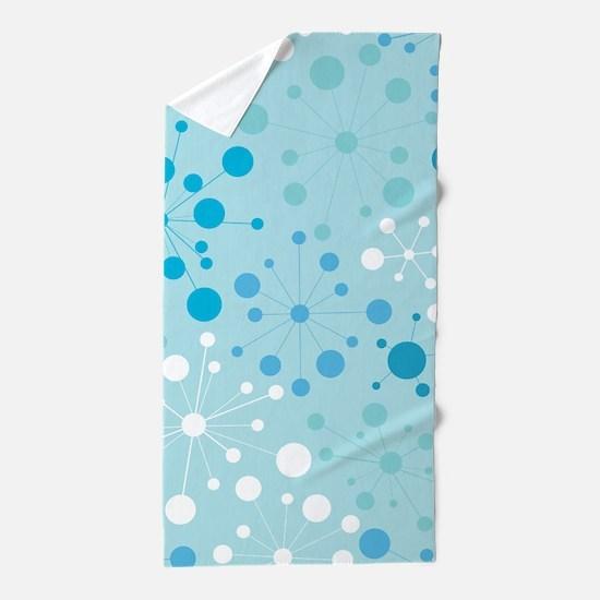 Retro Dots Aqua Beach Towel