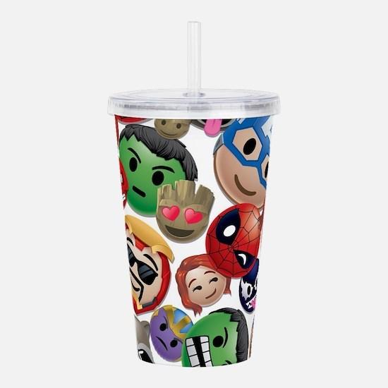 Marvel Emoji Faces Acrylic Double-wall Tumbler