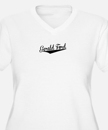 Gerald Ford, Retro, Plus Size T-Shirt