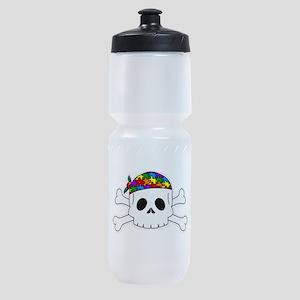 Autism Pirate Pride Sports Bottle