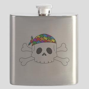 Autism Pirate Pride Flask