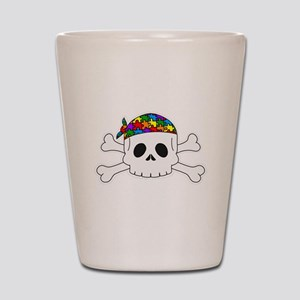 Autism Pirate Pride Shot Glass