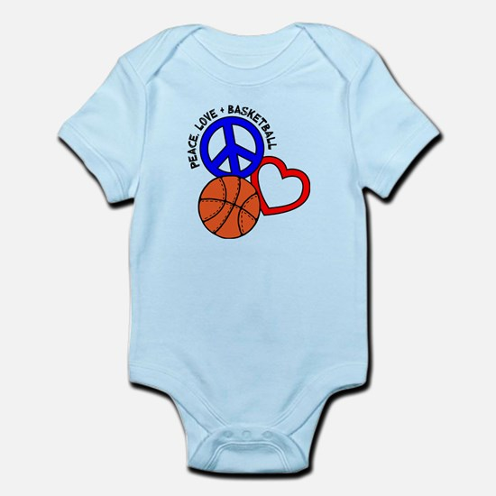 Peace, Love, B-Ball Infant Body Suit