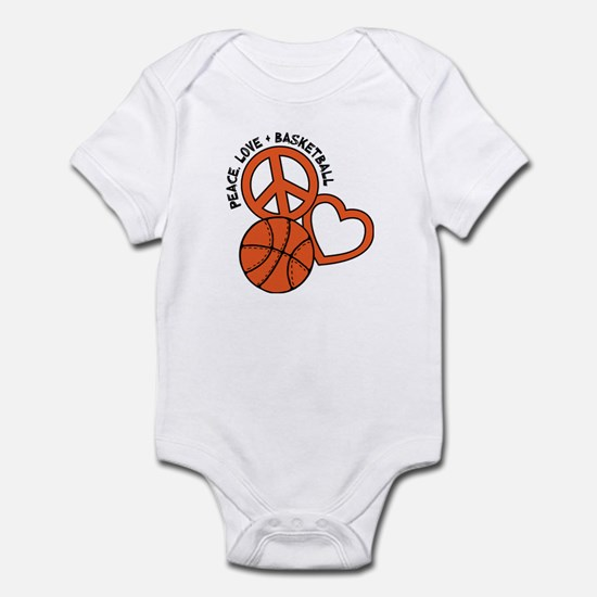 PEACE, LOVE, B-BALL Infant Bodysuit