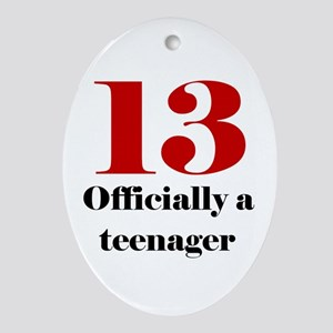 13 Teenager Oval Ornament