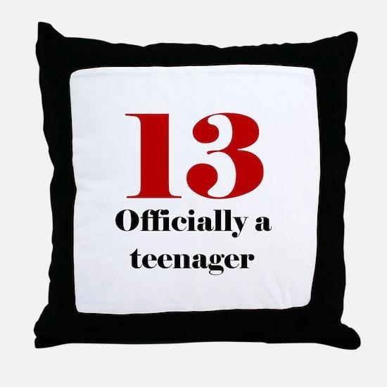 13 Teenager Throw Pillow