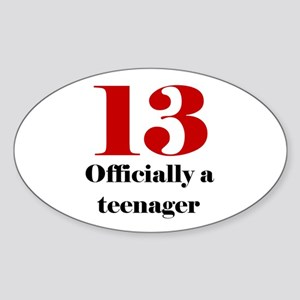 13 Teenager Oval Sticker