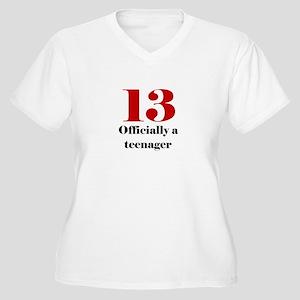 13 Teenager Women's Plus Size V-Neck T-Shirt