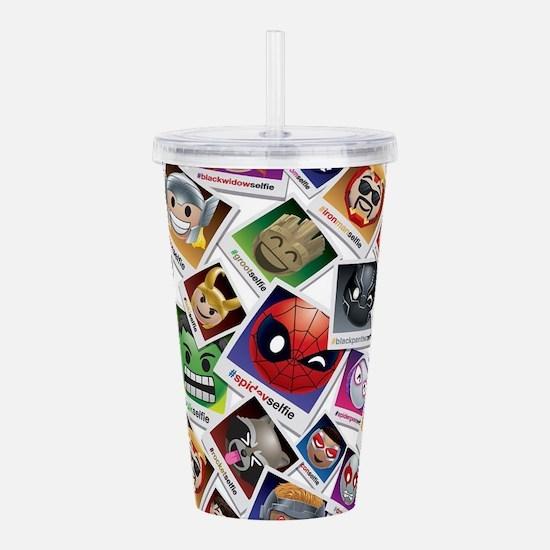 Marvel Emoji Selfie Acrylic Double-wall Tumbler