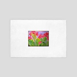 Cactus! Southwest art! 4' x 6' Rug