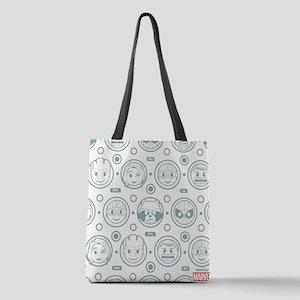 Marvel Emoji Circles Polyester Tote Bag
