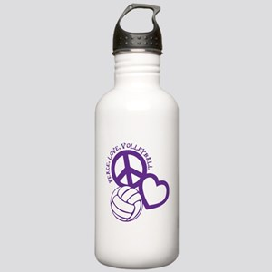 PEACE, LOVE, VB Stainless Water Bottle 1.0L