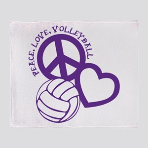 PEACE, LOVE, VB Throw Blanket