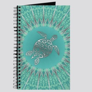 Aqua Turtle and Mandala Journal