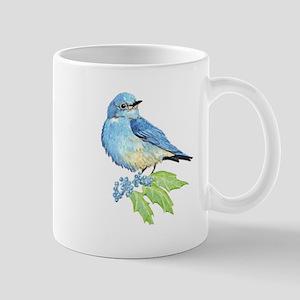 Watercolor Mountain Bluebird Bird nature Art Mugs