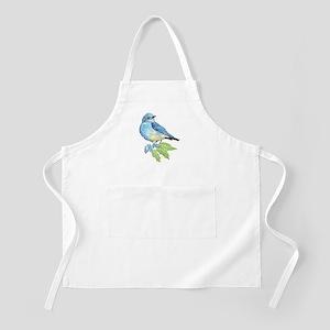 Watercolor Mountain Bluebird Bird nature Art Apron