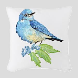 Watercolor Mountain Bluebird Bird nature Art Woven