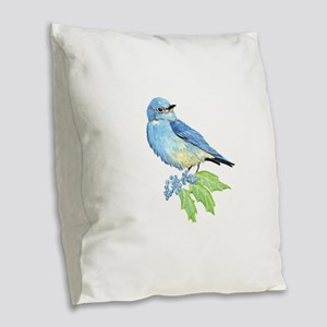 Watercolor Mountain Bluebird Bird nature Art Burla