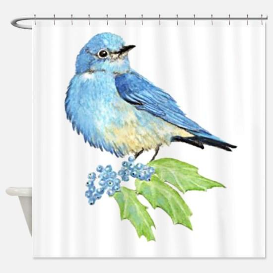 Watercolor Mountain Bluebird Bird nature Art Showe