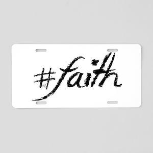 #Faith Aluminum License Plate