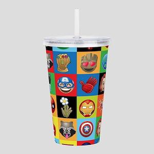 Marvel Emoji Squares Acrylic Double-wall Tumbler