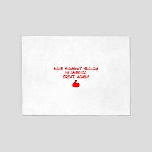 Make Shabbat Shalom in America Grea 5'x7'Area Rug