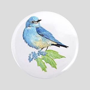 "Watercolor Mountain Bluebird Bird nature Art 3.5"""