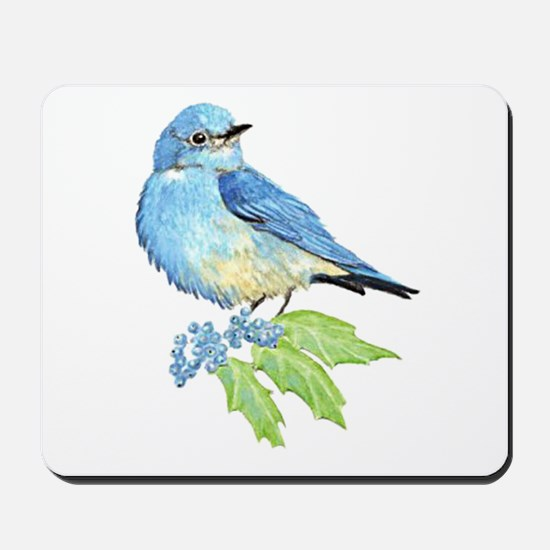 Watercolor Mountain Bluebird Bird nature Art Mouse