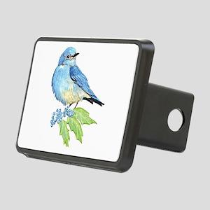 Watercolor Mountain Bluebird Bird nature Art Recta