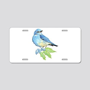Watercolor Mountain Bluebird Bird nature Art Alumi