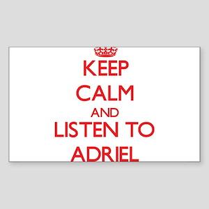 Keep Calm and Listen to Adriel Sticker