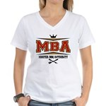 MBA Barbecue Women's V-Neck T-Shirt