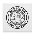 Heads or Tails Tile Coaster