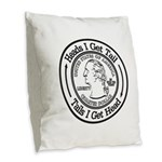 Heads or Tails Burlap Throw Pillow
