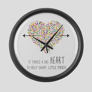 Teacher appreciation Large Wall Clock