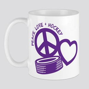 PEACE-LOVE-HOCKEY Mug