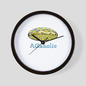 AGaholic (fields) Wall Clock