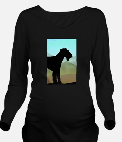 Craftsman Airedale Long Sleeve Maternity T-Shirt