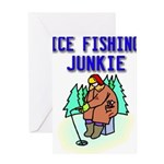 IceFishingJunkie Greeting Cards