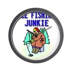 IceFishingJunkie Wall Clock