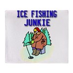 IceFishingJunkie Throw Blanket