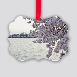 Cherry Blossoms Picture Ornament