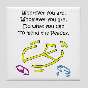 Mend the Peaces Tile Coaster