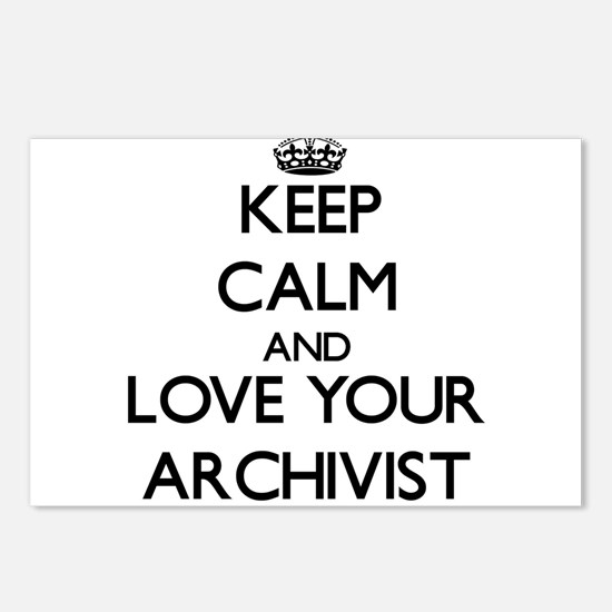 Keep Calm and Love your Archivist Postcards (Packa