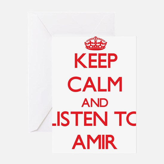 Keep Calm and Listen to Amir Greeting Cards